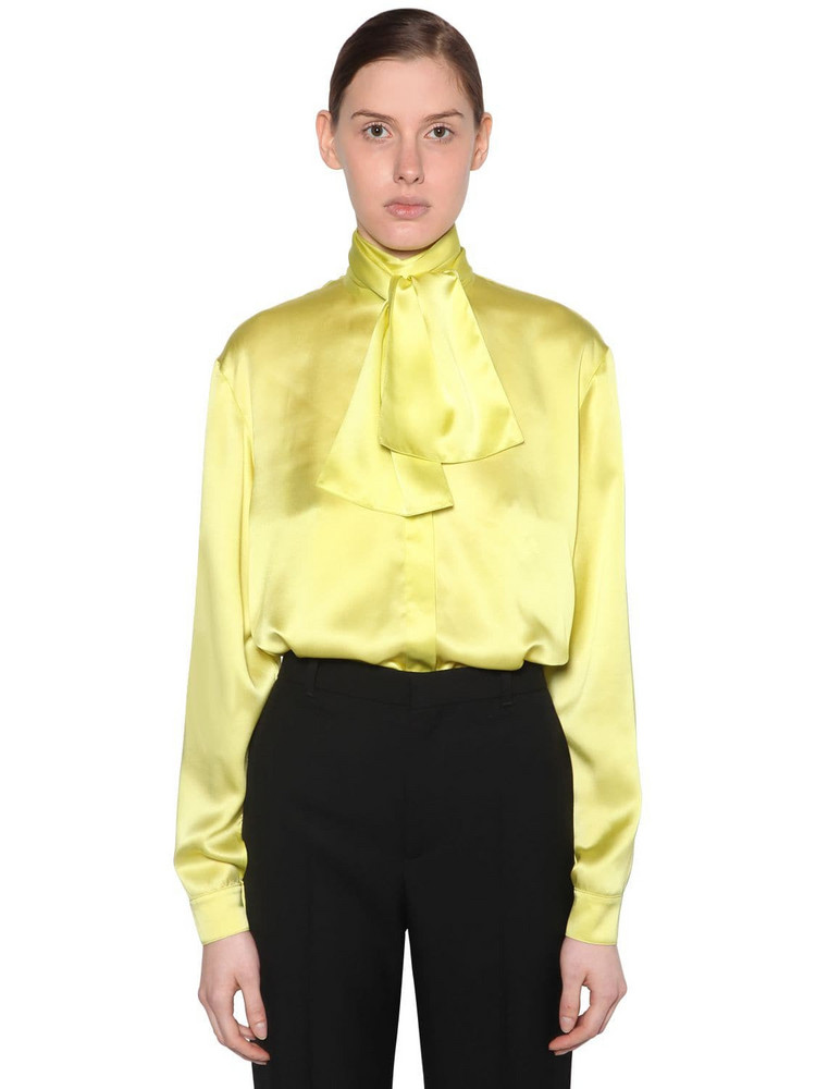 BALENCIAGA Silk Satin Blouse in yellow