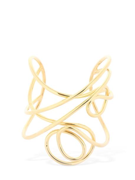 JOANNA LAURA CONSTANTINE Multi Knot Statement Cuff Bracelet in gold