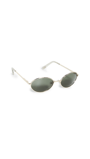 Le Specs Nowhere Sunglasses in gold / khaki