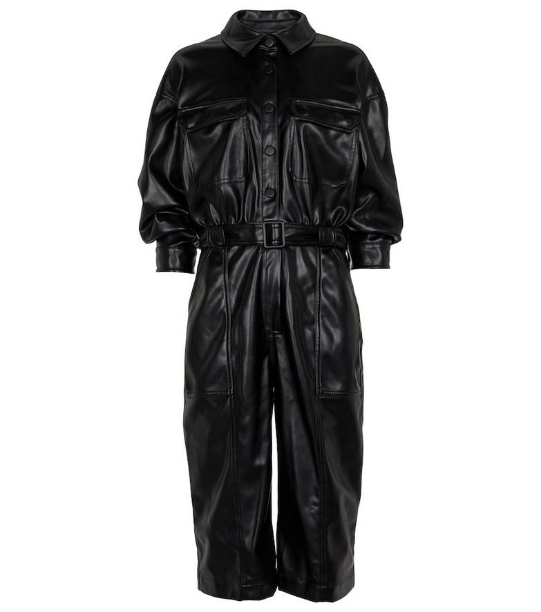 Jonathan Simkhai Kayley faux leather jumpsuit in black