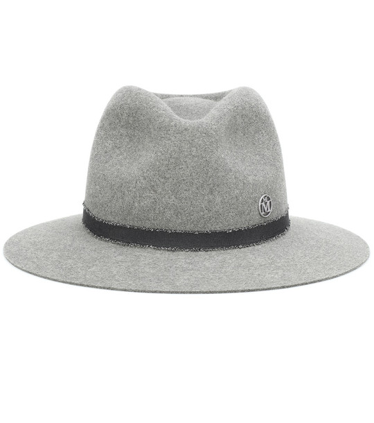 Maison Michel Rico felt fedora in grey
