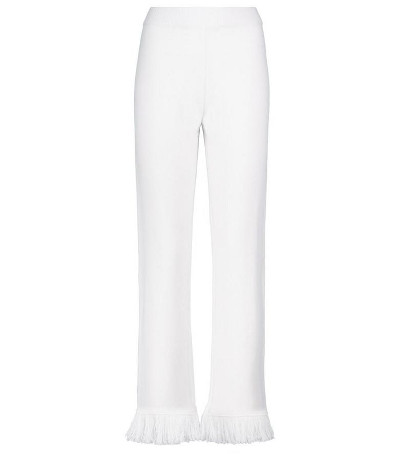 ALANUI Cordillera fringed virgin wool pants in white