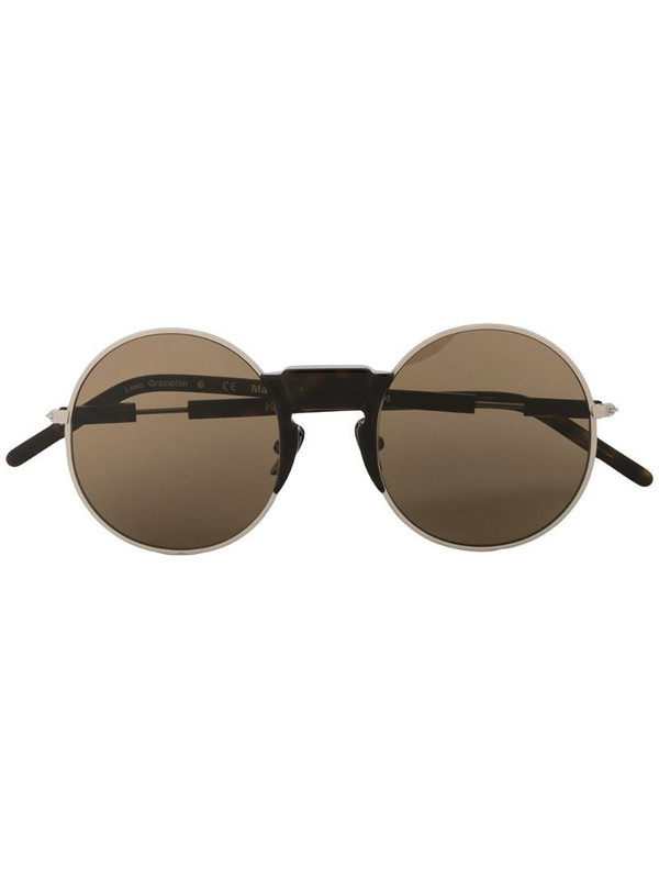 Kuboraum round frame sunglasses in brown