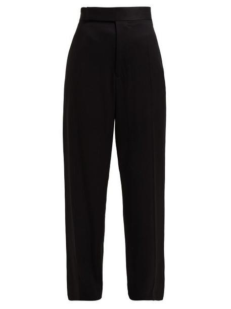 Haider Ackermann - Contrast Stripe Twill Trousers - Womens - Black