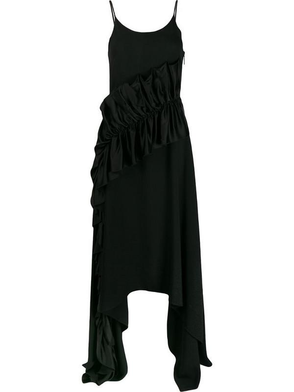 Christopher Kane satin frill cami dress in black