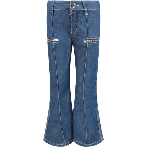 Chloé Chloé Blue Denim Flared Girl Jeans