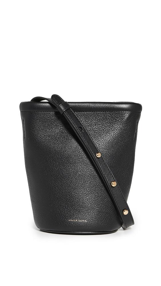 Mansur Gavriel Mini Zip Bucket Bag in black