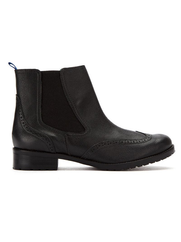 Blue Bird Shoes leather chelsea boots in black