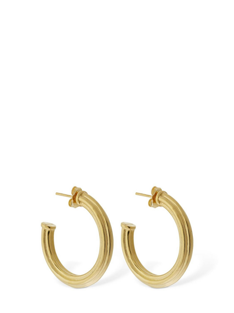 MISSOMA Large Ridged Gold Hoop Earrings