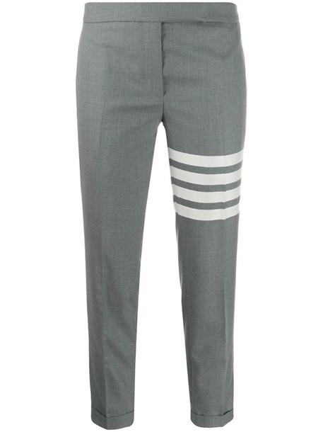 Thom Browne 4-Bar Stripe skinny trousers in grey