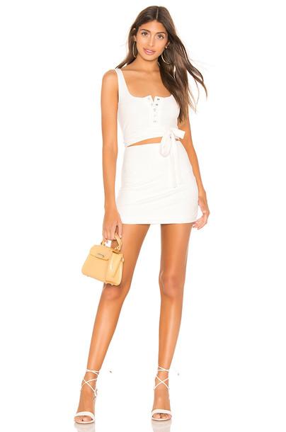 Privacy Please Cecile Mini Dress in white