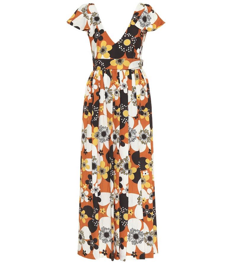 Dodo Bar Or Floral maxi dress in orange
