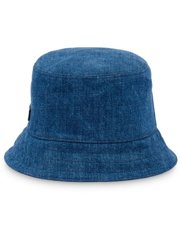 Miu Miu logo patch bucket hat in blue