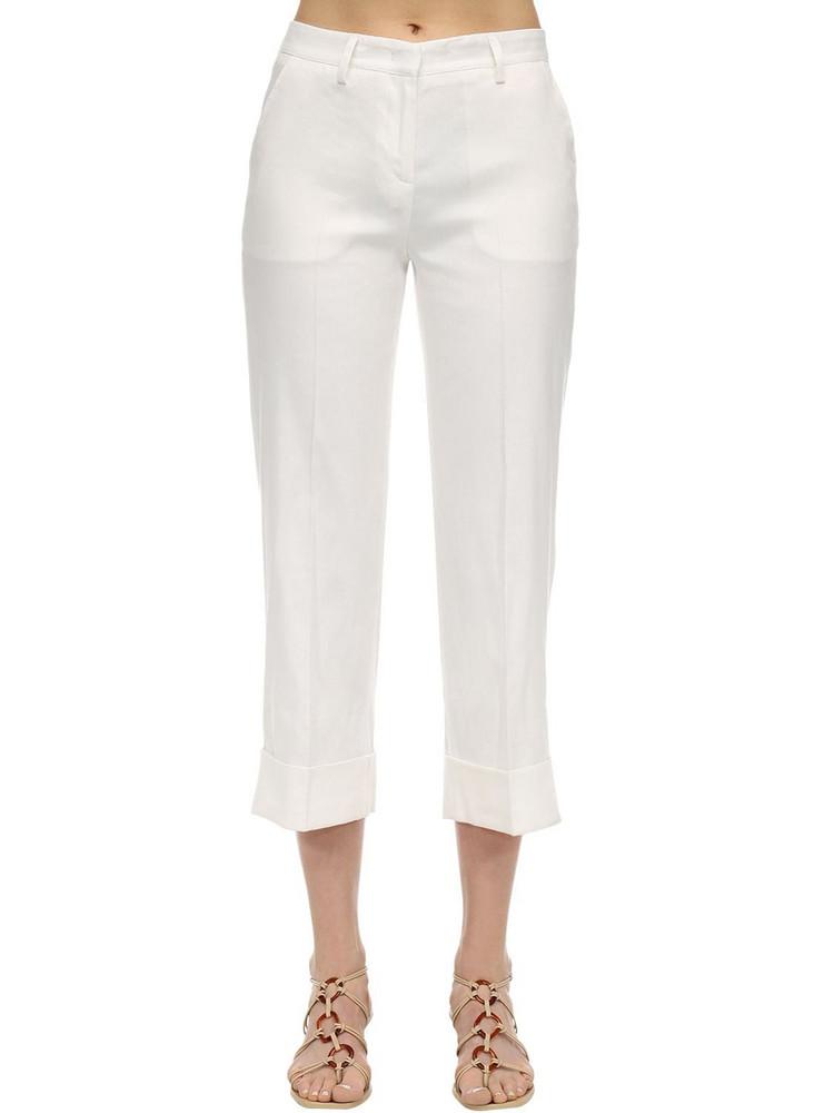 LARDINI Remigio Linen Pants in white
