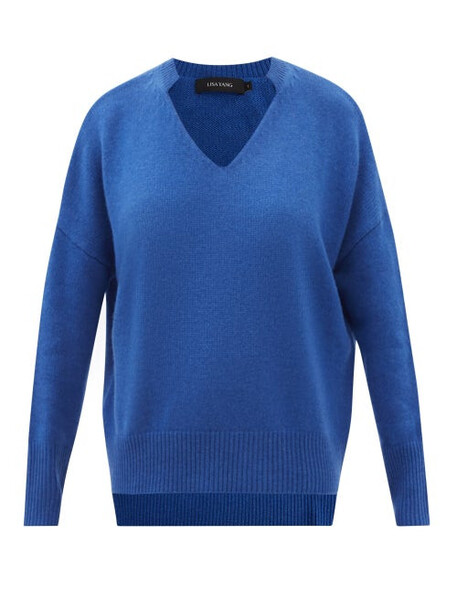 Lisa Yang - Ines V-neck Cashmere Sweater - Womens - Blue