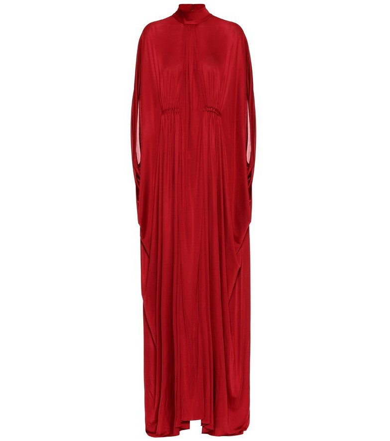 Valentino High-neck gown in red
