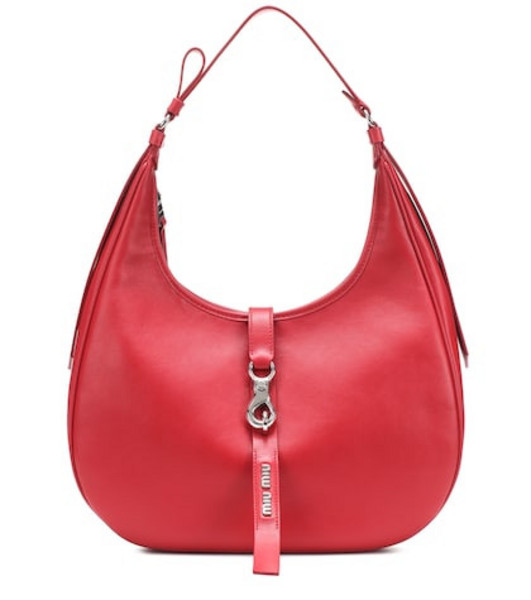 Miu Miu Leather shoulder bag in red