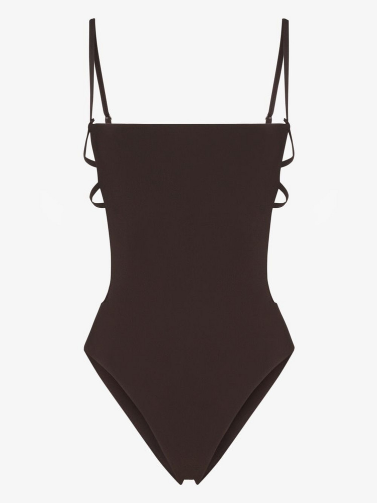 Anemone Cage swimsuit in brown
