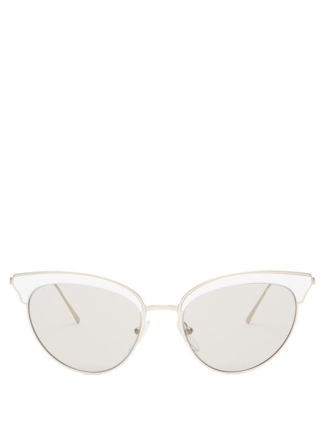 metal sunglasses white