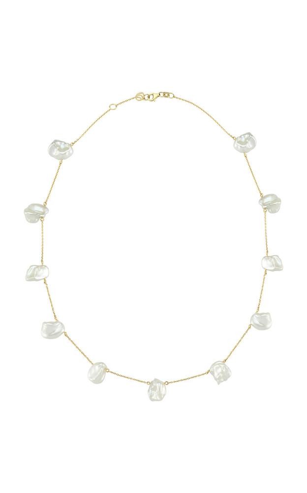 Charms Company Pearls of Joy 14K Yellow-Gold Pearl Necklace in white