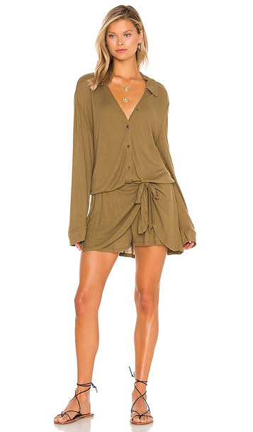 Free People X REVOLVE Lively Romper in Olive