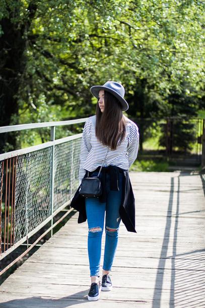 kolorowa dusza blogger hat sweater pants bag jewels shoes