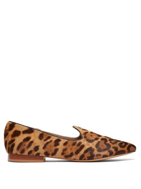 Le Monde Beryl - Venetian Leopard Print Calf Hair Slipper Shoes - Womens - Leopard