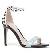 shoes,polka dots,heels,strappy heels
