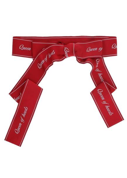 Dolce & Gabbana Fabric Belt With Bow in fuchsia