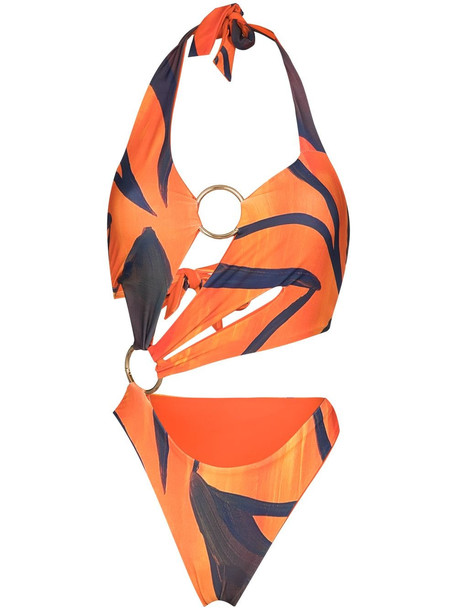 Louisa Ballou Sex Wax asymmetric swimsuit - Orange