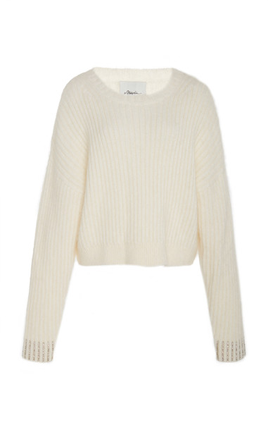 3.1 Phillip Lim Embellished Pullover in white