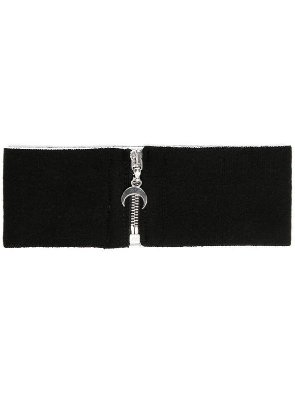 Marine Serre zip-front choker scaf in black