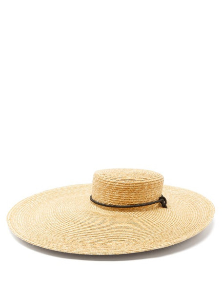 Lola Hats - Roundabout Wide-brimmed Straw Hat - Womens - Beige
