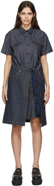 A.P.C. A.P.C. Indigo Sacai Edition Denim Keiko Dress