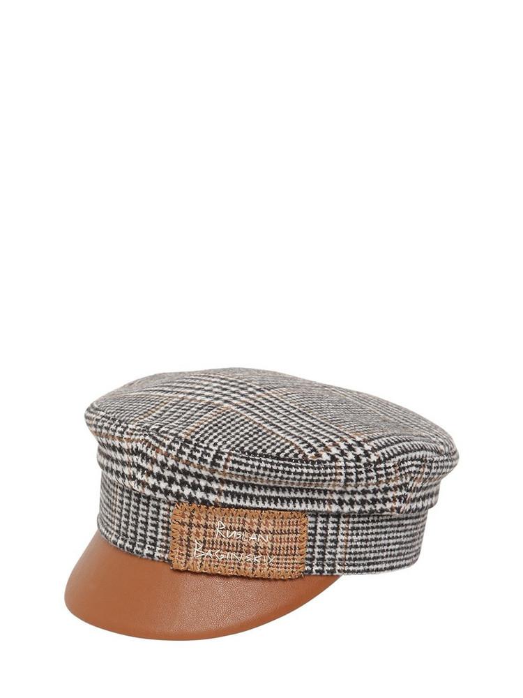 RUSLAN BAGINSKIY Baker Boy Monogram Embroidered Pdp Hat