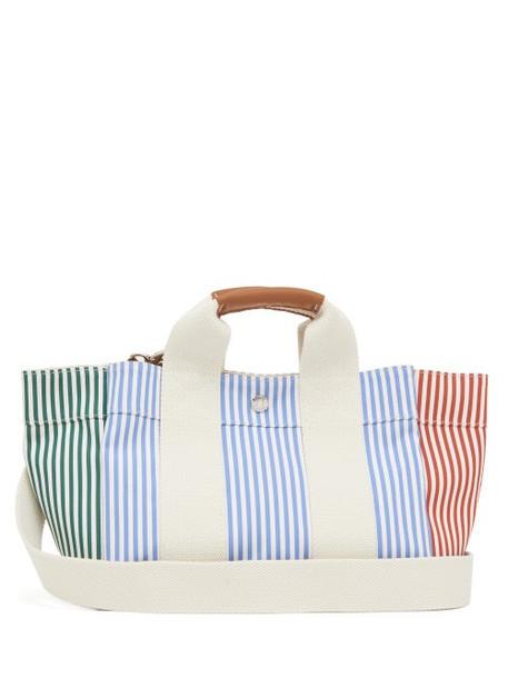 Rue De Verneuil - Lady Parcours S3 Patchwork Striped Canvas Tote Bag - Womens - Blue Multi