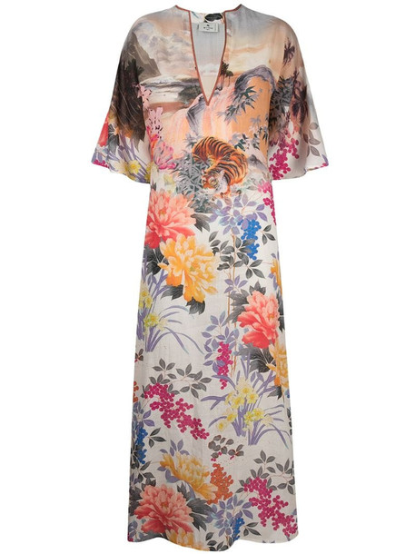Etro floral-print maxi dress in pink
