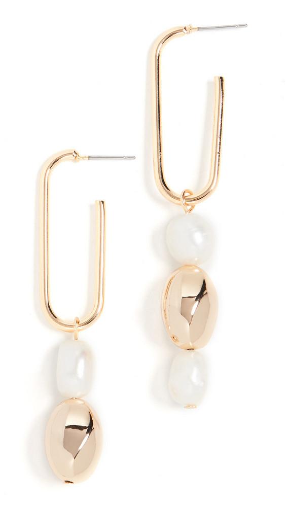 Jules Smith Pearl Drop Earrings in gold