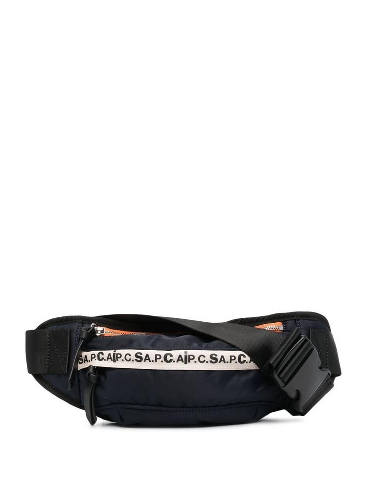 A.P.C. A.P.C. logo-print zipped belt bag - Blue