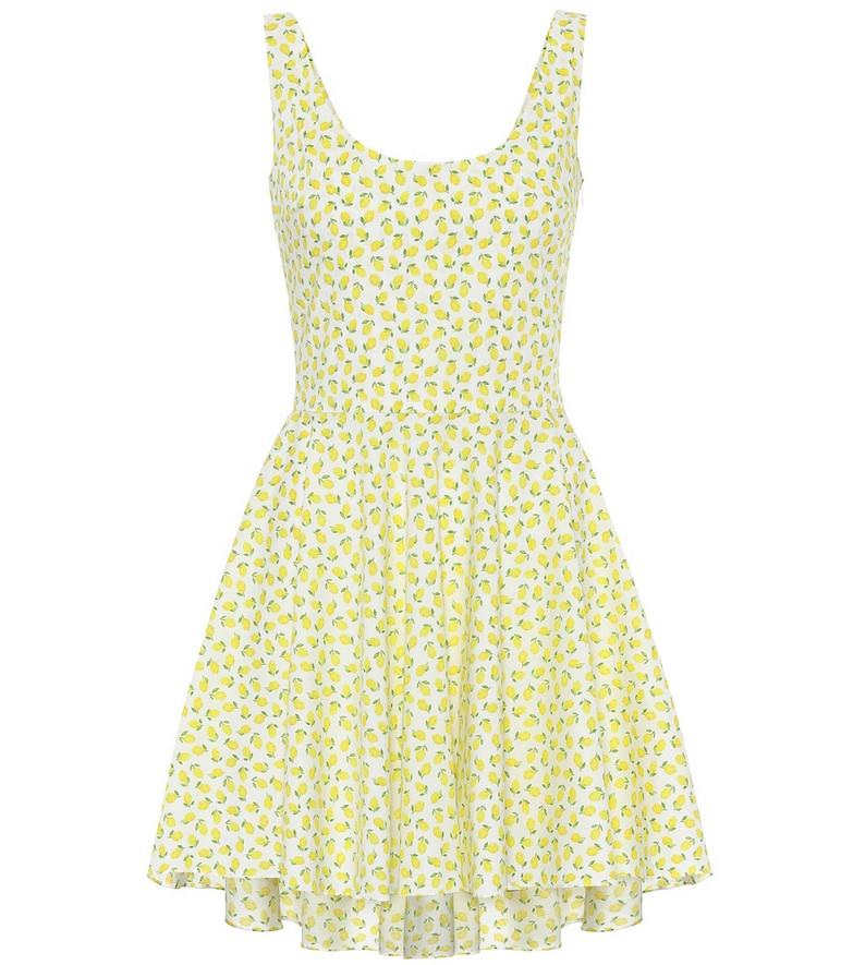 Caroline Constas Exclusive to Mytheresa – Kylie printed cotton minidress in yellow
