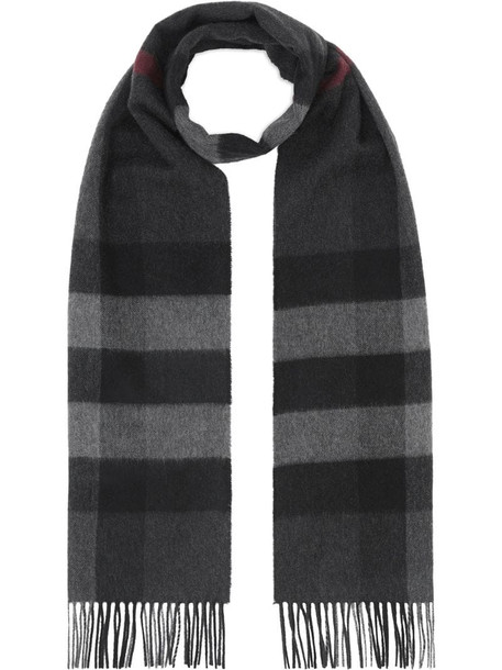 Burberry Check Cashmere Scarf in black