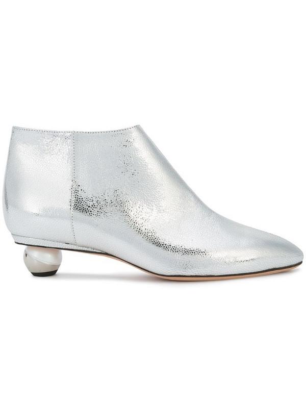 Alchimia Di Ballin pearl heel boots in grey