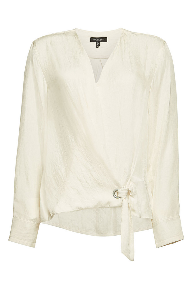 Rag & Bone Felix Blouse  in white