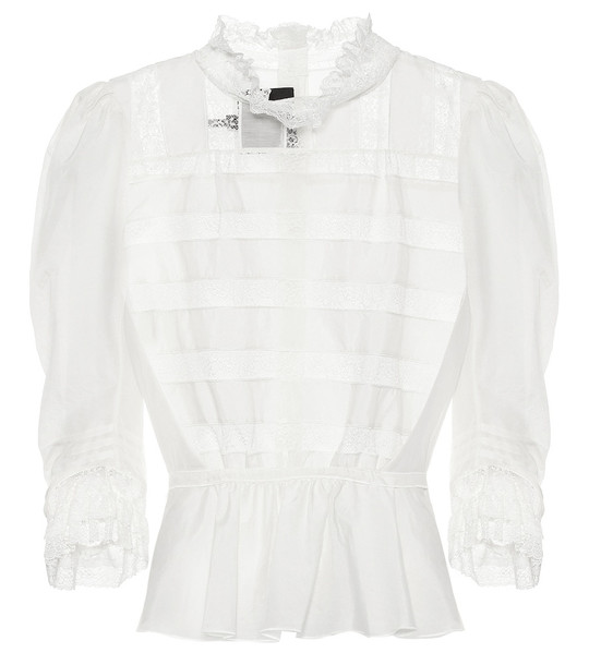 Marc Jacobs Cotton and silk shirt in white