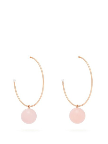 Irene Neuwirth - Gumball Pink Opal & 18kt Rose Gold Hoop Earrings - Womens - Pink