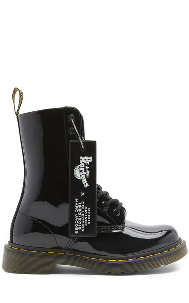 Marc Jacobs Dr Martens X Marc Jacobs Patent-leather Boots in nero