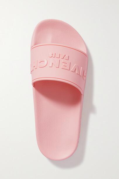 Givenchy - Logo-print Rubber Slides - Pink
