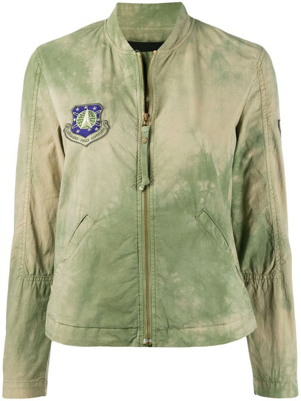 Mr & Mrs Italy faded zip jacket in green