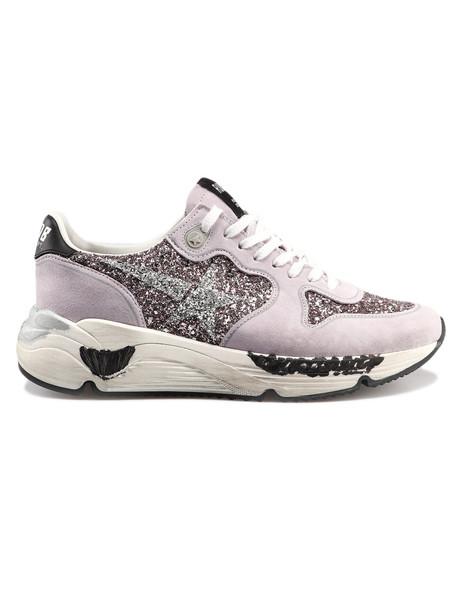 Golden Goose Sneakers Running in pink / silver