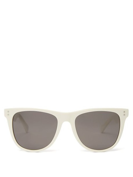 Celine Eyewear - Wayfarer Acetate Sunglasses - Womens - White